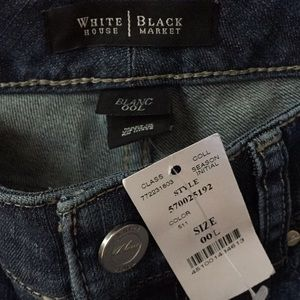 WHBM Blanc Jeans Bootcut 00L 35 inch inseam